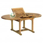 Oval Extendable Teak Garden Table