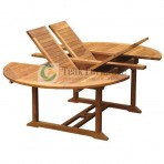 Oval Extendable Teak Garden Table