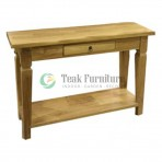 Console 2 Drw Whit Shelf