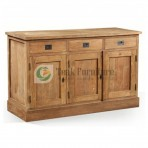 Plain Sideboard 3 Door Whit 3 Drw