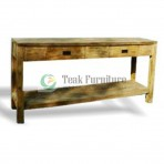 Console 3 Drw Whit Shelf