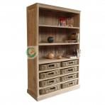 Bookcase 3 Shelf With 8 Basket