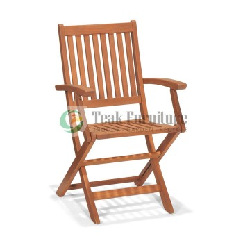 Straight Folding Chair with Arm